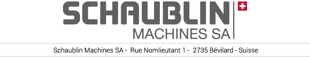SCHAUBLIN MACHINES SA